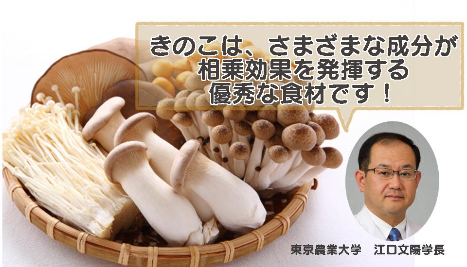 【インタビュー】きのこが持つ「免疫力アップ」の働きとは?!東京農業大学 江口文陽学長